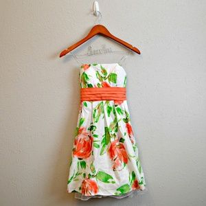 City Triangles Floral Strapless Dress - NWT